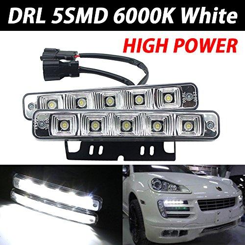 Taben auto fari DRL 6LED High/Low Beam 10W ad alta potenza LED luci diurne DRL della lampada allo xeno bianco 6000K (set da pezzi)