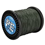 Skysper® Fishing Line 100%PE Geflochtene Angelschnur Spule 30lb, 0.234mm*1000m Grün