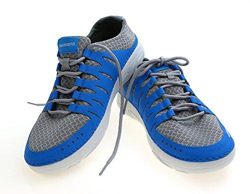 SHIMANO EVAIR Boat Shoes SZ. 8 Blue - Fishing Boat Schuhe
