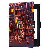 Huasiru Pintura Caso Funda para Kindle Paperwhite (versiones 2012, 2013, 2015, 2016 y 2017), no es compatible con la versión del 2018 (10.ª generación) - Biblioteca