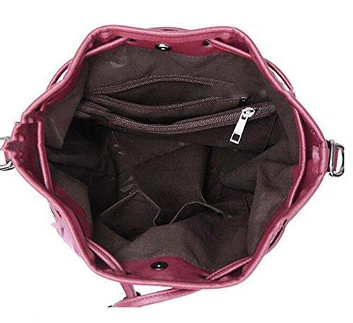 Art Und Weise Beiläufiger Nylon Tuch-Schulter Kurier Kurier-Handtasche Oxford-spinnender Beutel Black