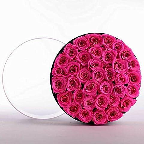 Bote De Cadeau Fleur éternelle/Bote De Fleur De Rose Frache/ Valentine-C