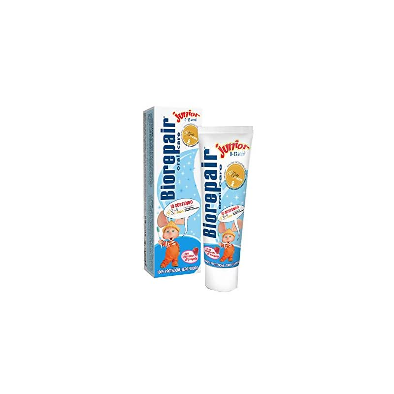 Biorepair - Dentifricio Junior, Con Estratto di Fragola, Zero Fluoro - 44 g 50 ml