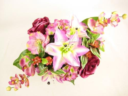 50cm rosa Artificial flores Lily rosa Hortensia orquídea boda mesa centro de GT decoraciones
