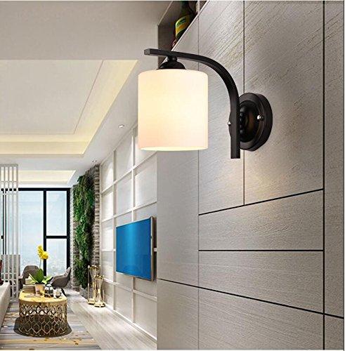 BOOTU Bougeoir LED et descendre appliques Tête de lit chambre à coucher lampe murale antique fer wall lamp wall light industrial corridor aérien passage loft de 18cm*,G-18.5haute diamètre cm