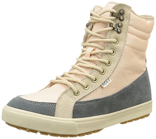 Roxy - Anchorage, Stivali a metà gamba con imbottitura pesante Donna Grau (Light Grey -LGR)