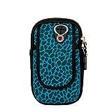 Laufender Armband-Telefonhalter, Fitness Arm Tasche Tauchen Handy Arm Band für iPhone Zehn/X 6 7 8 Lauf und Radfahren Arm Tasche (Farbe : Blau, Größe : Small)