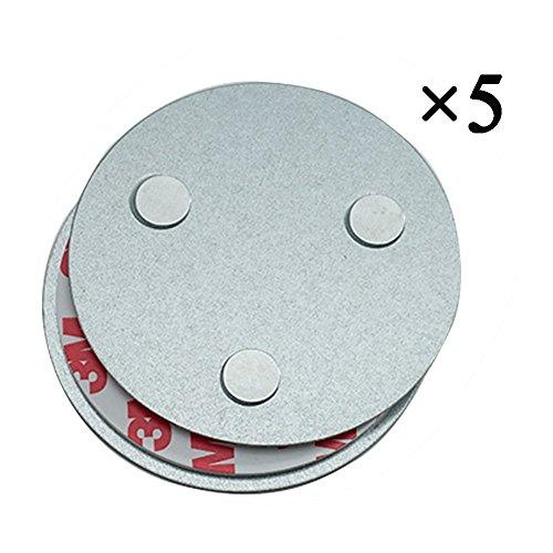 Rauch-detektor (Hmtool Magnetbefestigung Rauchmelder,Magnet Befestigung für Rauchwarnmelder,Drei Magneten Sorgen Dafür,Dass Große Saug und 10 Jahre Lebenszeit Gleich wie Rauchsensoren(5Stk))