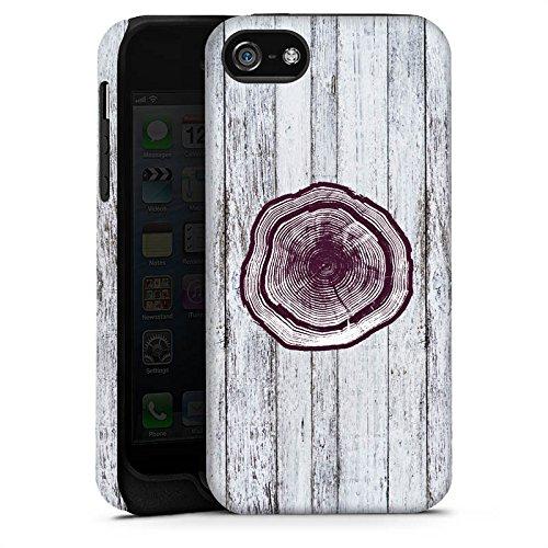 Apple iPhone X Silikon Hülle Case Schutzhülle Stamm Holz Look Baumstamm Tough Case matt