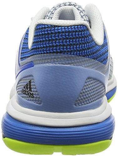 adidas Court Stabil 13, Scarpe da Pallamano Uomo Bianco (Ftwr White/Core Black/Shock Blue)
