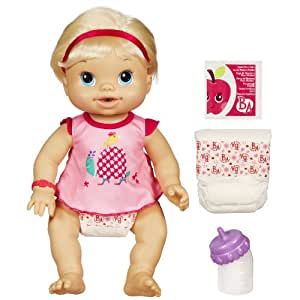 Baby Alive Wets N Wiggles Doll Blonde Amazon Co Uk