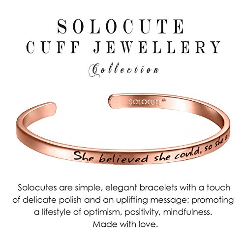 Cuff Bracelet Engraved Love Inspirational Bangle Bracelet Jewelry Gift for Christmas Valentines Day