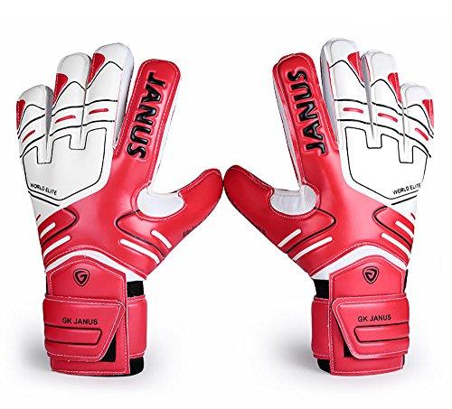 FLBTY Professionelle Torwarthandschuhe Verdicken Fußball Torwarthandschuhe Torwarthandschuhe (Rot),7#