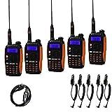 Baofeng GT-3TP + Cable, 5 Radio + 1 Câble de Programmation