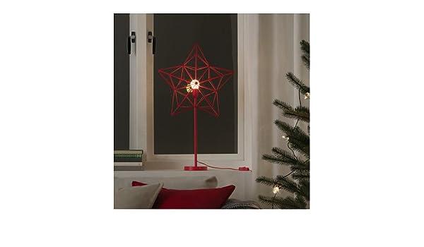 Ikea Strala LED lampada da tavolo in rosso; Stella; luci di