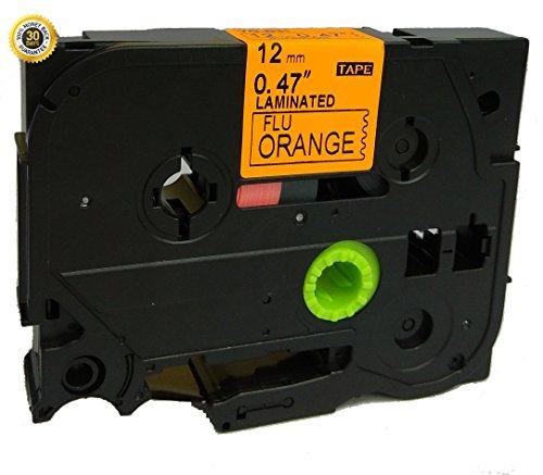 Neouza Ersatz-Kassette kompatibel mit Brother P-Touch Tze Tz Etikettiergerät, 12mm TZe-B31 Black on Orange Fluorescent