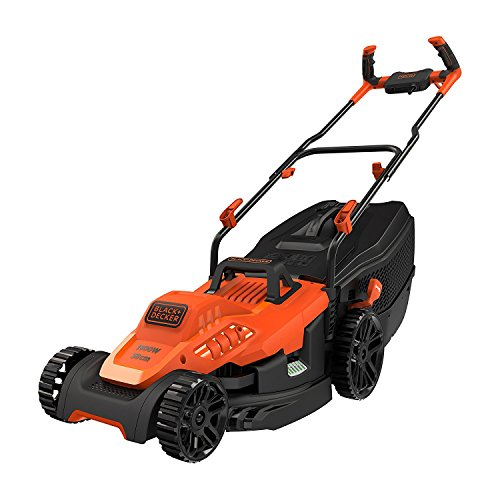 BLACK+DECKER BEMW471BH-QS Tondeuse à Gazon Filaire 6 Hauteurs, 1600 W, Orange, 38 cm