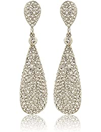 Moonstruck Diamond Metal Dangle Drop Earrings For Women