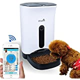 Wopet 4,3L Distributeurs automatiques de nourriture Chien Chat Feeder,contrôlée par APP de Iphone, Android Mobile Phone