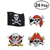 TOYMYTOY 24Pcs Pirate Rings con Pirate Skull Bandana Flag Pattern per  bambini Ragazzi Birthday Pirate Theme 070d1252511