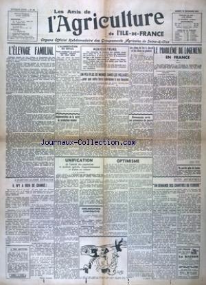 AMIS DE L'AGRICULTURE DE L'ILE DE FRANCE (LES) [No 24] du 29/11/1941