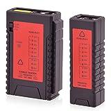 Intratec Netzwerk Kabeltester RJ11 / RJ45 Kabel Netzwerktester - Kabelprüfer Patchkabel Ethernet DSL ISDN