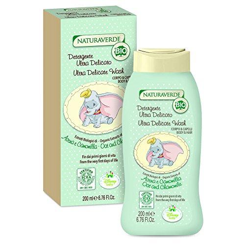 Disney Baby BIO ICEA Eco Cosmetics - Ultra zartes Körper- und Haarreinigungsgel, 200 ml (Bio-baby-badewanne)
