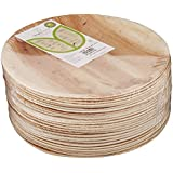 Adaaya Farms - Simply Urbane Natural Palm Leaf Round Quarter Plates - 6.75 Inches - Pack of 25 - Suitable for Parties and Events - Eco Friendly / Bio degradable / Compostable