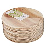 Adaaya Farms - Simply Urbane Natural Palm Leaf Round Quarter Plates - 6.75 Inches - Pack Of 25