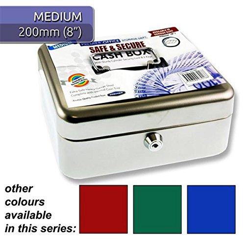 Premier Stationery h2770188-Büro Metall Geldkassette mit Münzeinsatz, mehrfarbig (4Stück)