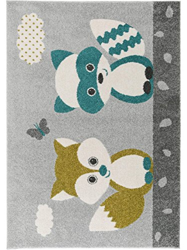 benuta Kinderteppich Best Friends Blau 160x230 cm | Teppich für Spiel- und Kinderzimmer