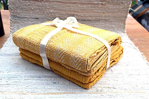 Onebox24 Kuscheldecke 2er Set Picknickdecke Gelb