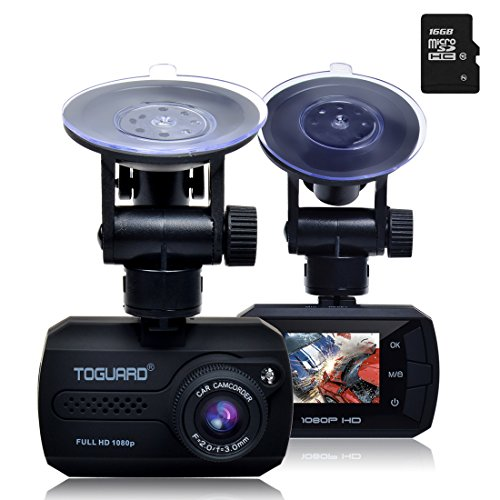 TOGUARD Mini Full HD 1080p Coche Dash Cam DVR Integrado...
