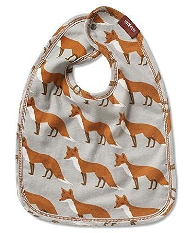 Milkbarn Baby-Lätzchen mit schönem Motiv Fuchs grau orange 36 x 26 cm (Schmetterling Tuch Lätzchen)