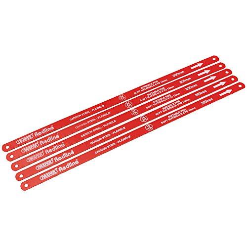 Draper Redline 68414-Lames de scie à métaux de 300mm (5 pièces)