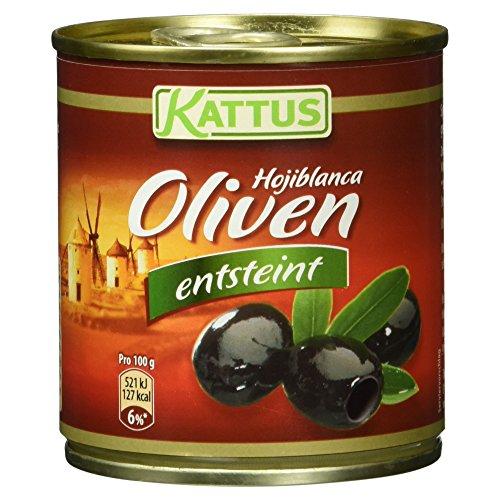 Kattus schwarze Hojiblanca Oliven, entsteint, 80 g