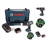 Bosch GSB 18 V-60 C Professional Li-Ion Brushless Akku Schlagbohrschrauber in L-Boxx + 1x GBA 5,0 Ah Akku + Ladegerät + Connectivity Modul