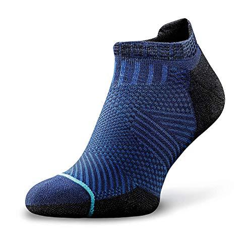 ROCKAY Accelerate - Running-Socken für Damen & Herren mit Bio-Merinowolle, Atmungsaktive Sportsocken, Anti-Blasen, Schweißfüße Socken, tolle Passform, Laufsocken mit Blasenschutz -