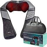 Display4top Massagegerät Nacken Schulter, Verwendet in Zuhause Büro Auto, Lindert effektiv Schulter Zurück Kalb Schmerzen, Mitgelieferte Handtasche (Schwarz&Grau)