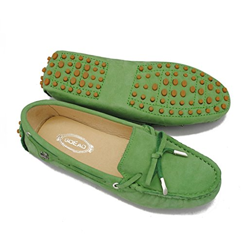 Meijili , Sandales Plateforme femme Nubuck Green