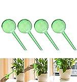 CHRISTYLE Imitation Glaskugel-Typ Drip Kleine Pflanze Blumen Selbst Bewässerung Automatische Waterer Geräte 4Pcs-Grün