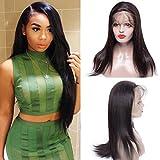 Maxine 360Dentelle Perruque droites brésiliens vierges Cheveux 360Dentelle frontale Perruque avec cheveux de bébé 130Densité