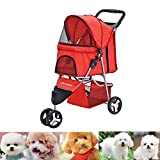 Upgraded Dog Puppy Cat Pet Travel Stroller Pushchair - Best Reviews Guide