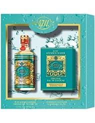 4711 Coffret Cadeau Flacon Eau de Cologne 50 ml + Set de 10 Pochettes Rafraîchissant 50 ml