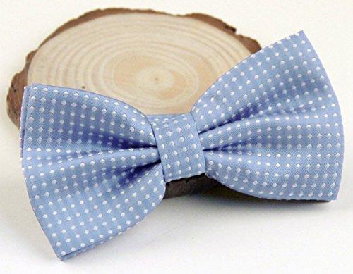 Panegy Nœud Papillon Cravate lavallière Homme Soirée Businesse Mariage Cérémonie Déco Fête Costume Bow Tie en Coton mélange Classique pour Complet 6*12cm à Pois Multicolore Bleu