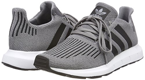 adidas Swift Run, Zapatillas Unisex Adulto, TwoCore BlackMedium Grey Gris Heather 0, 40 EU