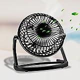 Ventilador USB, innislink Silencioso Mini Fan Portatil Lightweight Ventilador de Mesa 360°Giratorio Pequeño y Potente Mini Ventilador de Mesa para PC, Hogar y Oficina o Viaje mini Ventilador - Negro