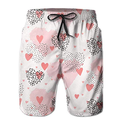 Jebnpse Cute Heart Swim Shorts Men's Swim Trunks Beach Shorts Board Shorts,Men's Beach Shorts Quick Dry Summer Surfing Trunks Surf Board Shorts Beach Pants with Pockets for Men X-Large - American Heart Baby T-shirt