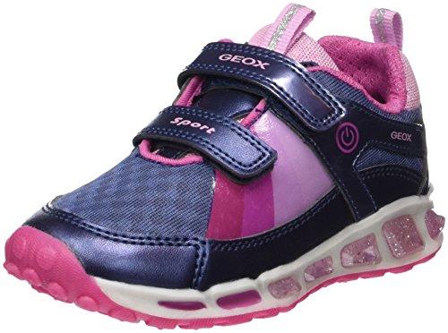 Geox Mädchen J Shuttle Girl B Sneaker, Blau (Navy/Fuchsia), 31 EU