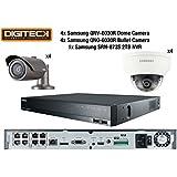 Paquet de sécurité pour caméras 2MP de Samsung 2paquet IP Full HD 1080p ip POE + 2TB NVR